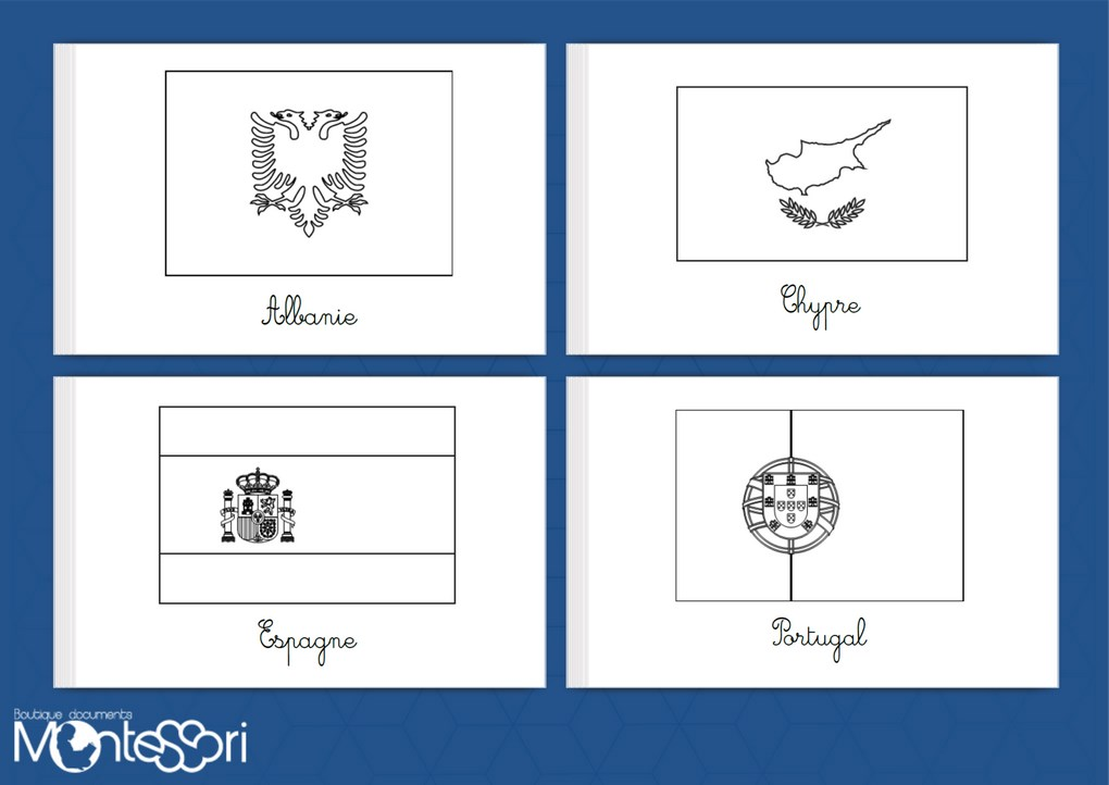 Boutique documents montessori - Drapeau d espagne a colorier ...